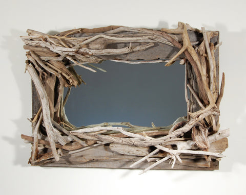 Driftwood Mirror/ Composition # 22