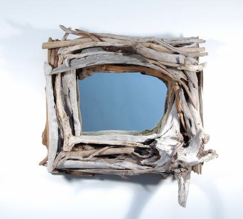Driftwood Mirror/ Composition # 26