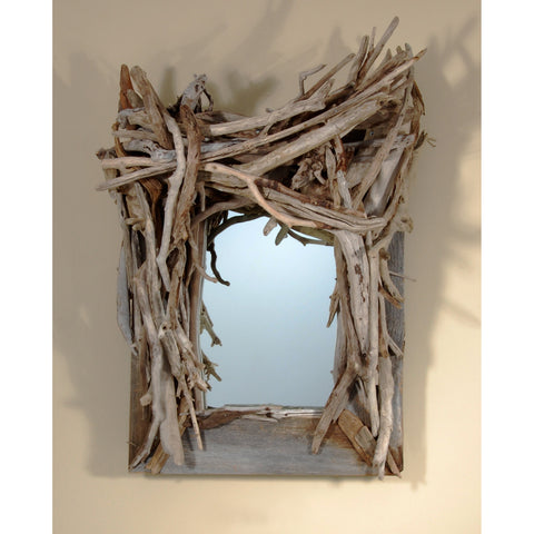 Driftwood Mirror/ Composition #27