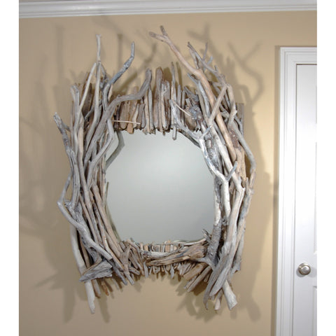 Whitewash Driftwood Mirror/ Composition #45