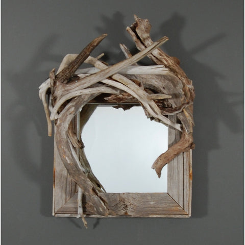 Antique Barn Board & Driftwood Mirror/ Composition # 52