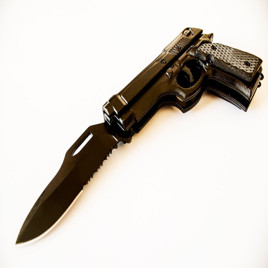 Black 1911 Pistol Knife for Gun Lovers - Under Control Tactical - 4