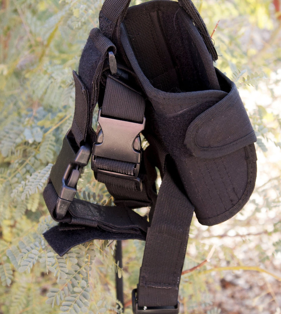 Black Tactical Leg Holster for Gun - Universal Fit For Glock, Smith & Wesson, Ruger, & More! - Under Control Tactical - 4