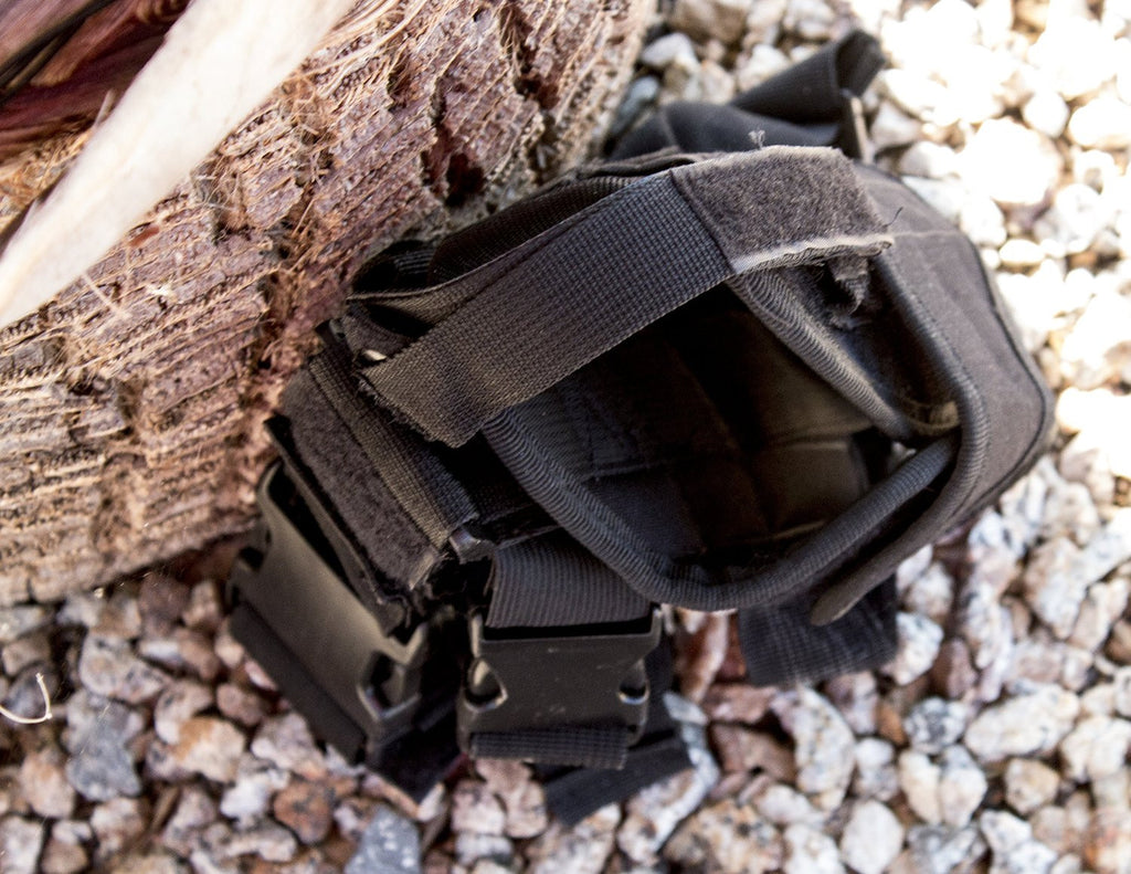 Black Tactical Leg Holster for Gun - Universal Fit For Glock, Smith & Wesson, Ruger, & More! - Under Control Tactical - 3