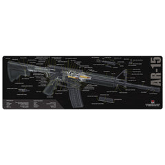 "AR-15 3D Cutaway Gun Cleaning Mat - 12"" x 36"" Oversized Workarea"