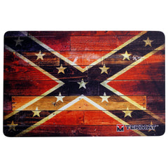 "Confederate and Dixie Flag Gun Cleaning - Mat Gun Cleaning Mat - 11"" x 17"" Oversized Workarea"