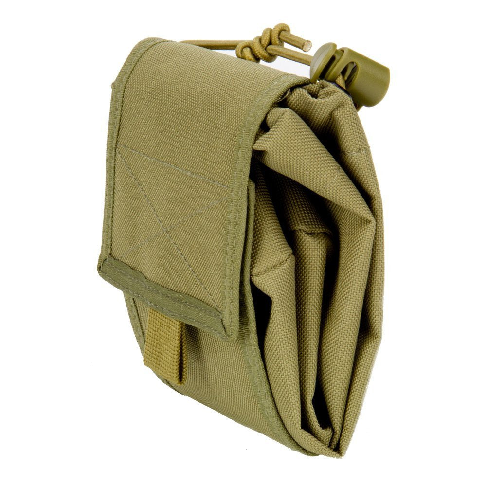 Large Collapsible Roll Up MOLLE Dump Pouch for Ammo, Brass, Magazines, Shells, and Misc Gear - Under Control Tactical - 7