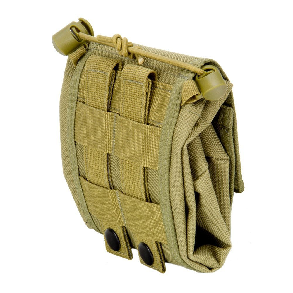 Large Collapsible Roll Up MOLLE Dump Pouch for Ammo, Brass, Magazines, Shells, and Misc Gear - Under Control Tactical - 8