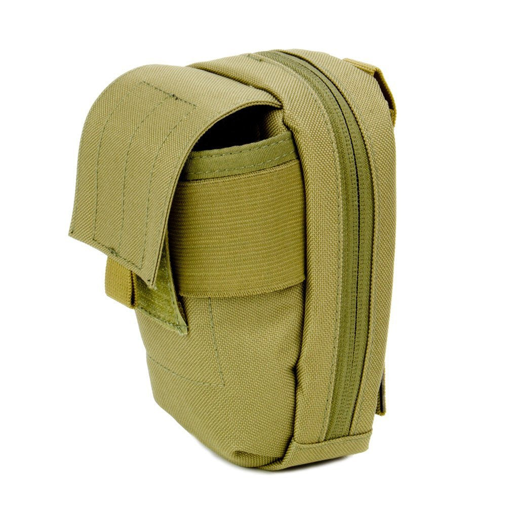 MOLLE Tech Pouch - Padded Multiple Pocket Media Pouch for Cameras, Phones, iPods and Other Electronics - Under Control Tactical - 3