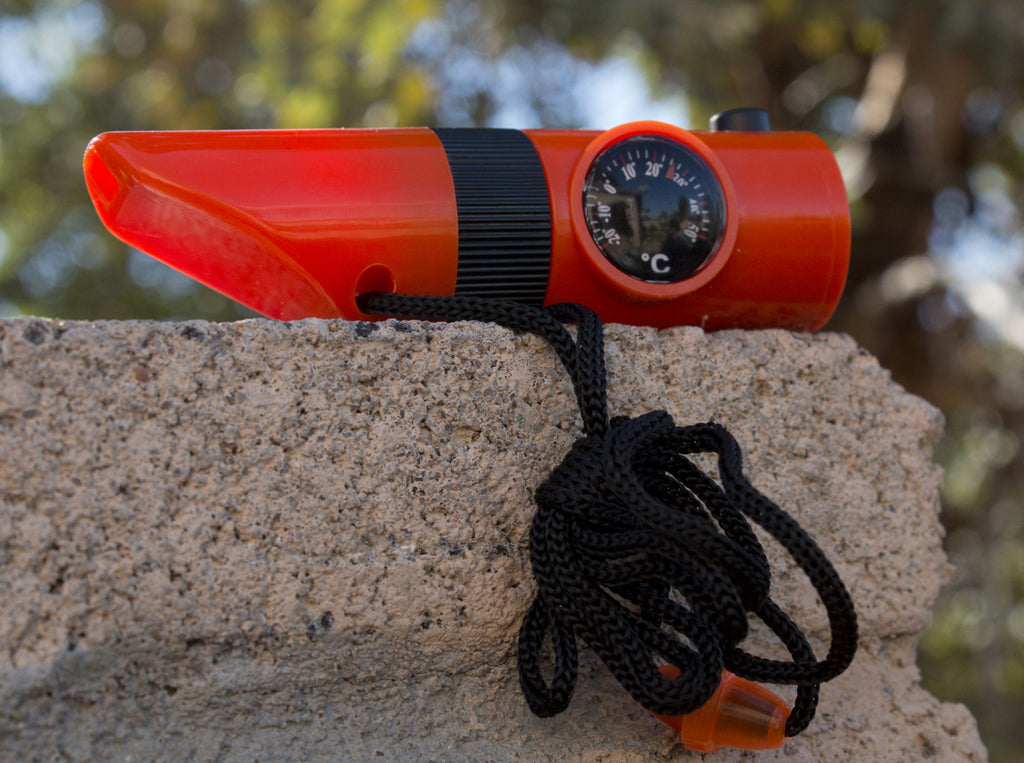 7-in-1 Orange Emergency Survival Tool with Whistle - Under Control Tactical - 3