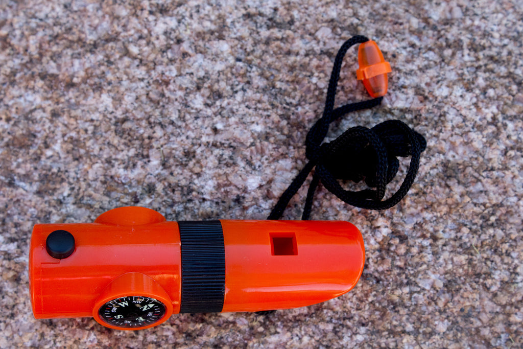 7-in-1 Orange Emergency Survival Tool with Whistle - Under Control Tactical - 2