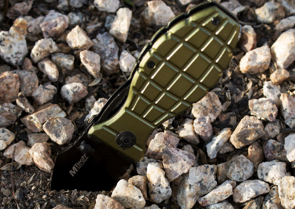 "Best Grenade Folding Pocket Knife - Special ""Military"" Edition - Under Control Tactical - 2"