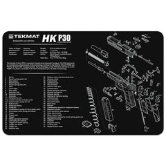"Heckler & Koch® HK P30 - Gun Cleaning Mat - 11"" x 17"" Oversized Workarea"