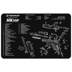 "Heckler & Koch® HK USP - Gun Cleaning Mat - 11"" x 17"" Oversized Workarea"