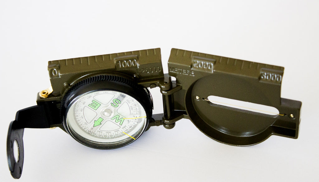 lensatic compass how to take references