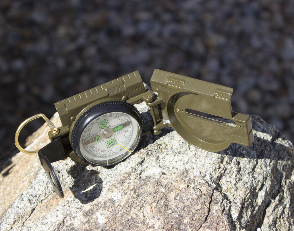 Best Lensatic Military Compass For Easy Map Navigation - Professional Grade Survival & Mapping Gear - Under Control Tactical - 9