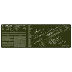 "M1 Garand OD Gun Cleaning Mat - 12"" x 36"" Oversized Workarea"