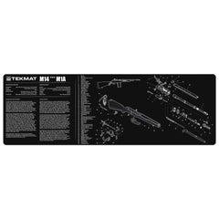 "M14 - Springfield M1A Gun Cleaning Mat - 12"" x 36"" Oversized Workarea"