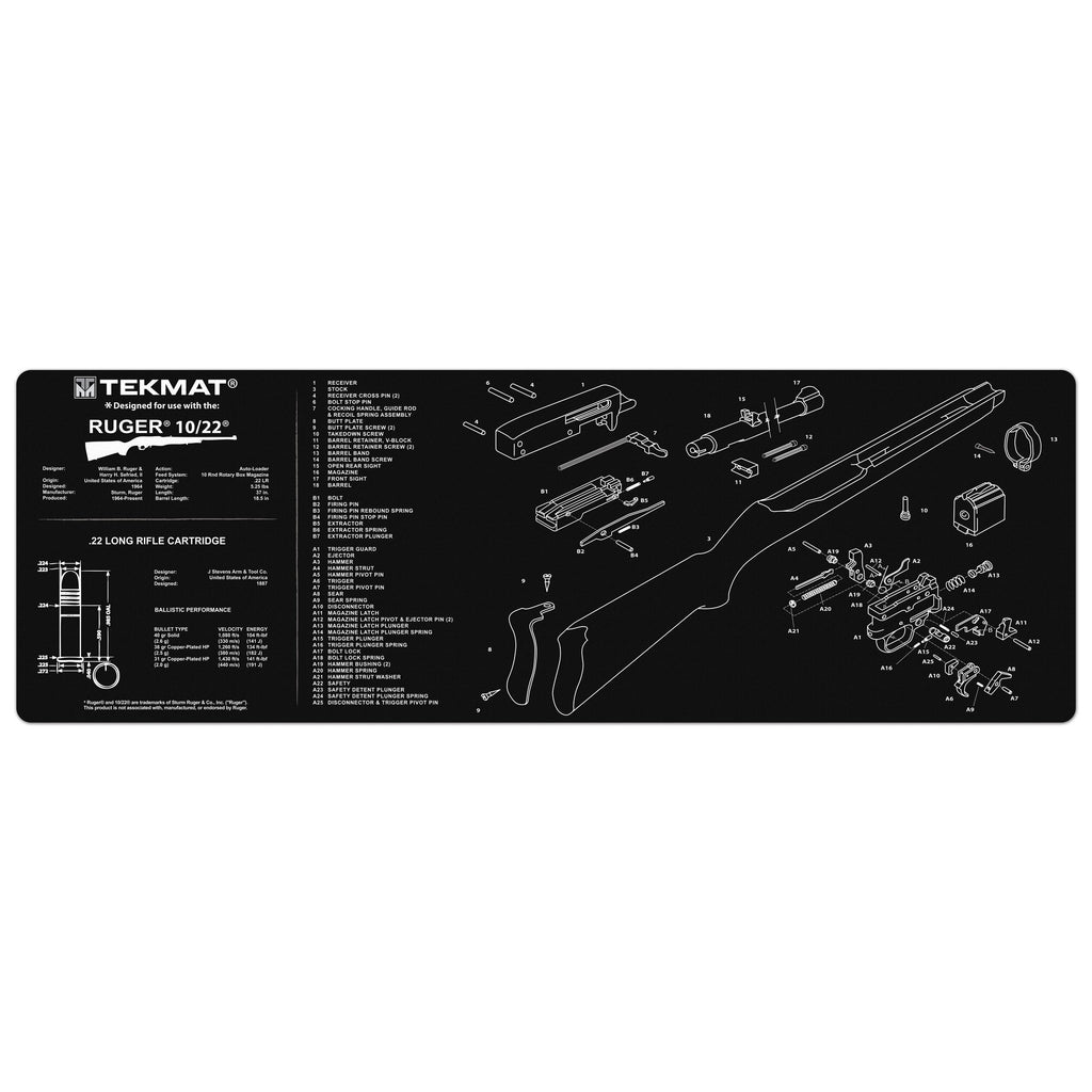 "Ruger® 10/22® Gun Cleaning Mat - 12"" x 36"" Oversized Workarea"