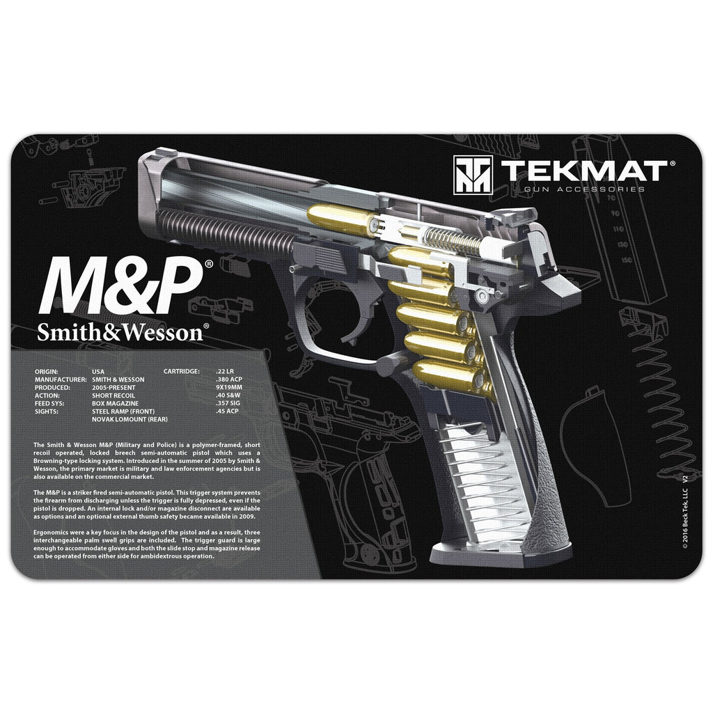 "Smith & Wesson® M&P® Cutaway Mat - Gun Cleaning Mat - 11"" x 17"" Oversized Workarea"
