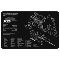 "Springfield Armory® XD® MOD.2™ Gun Cleaning Mat - 11"" x 17"" Oversized Workarea"
