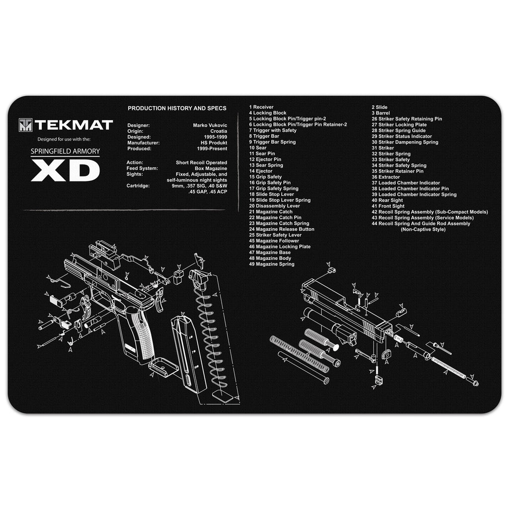 "Springfield Armory® XD® Gun Cleaning Mat - 11"" x 17"" Oversized Workarea"
