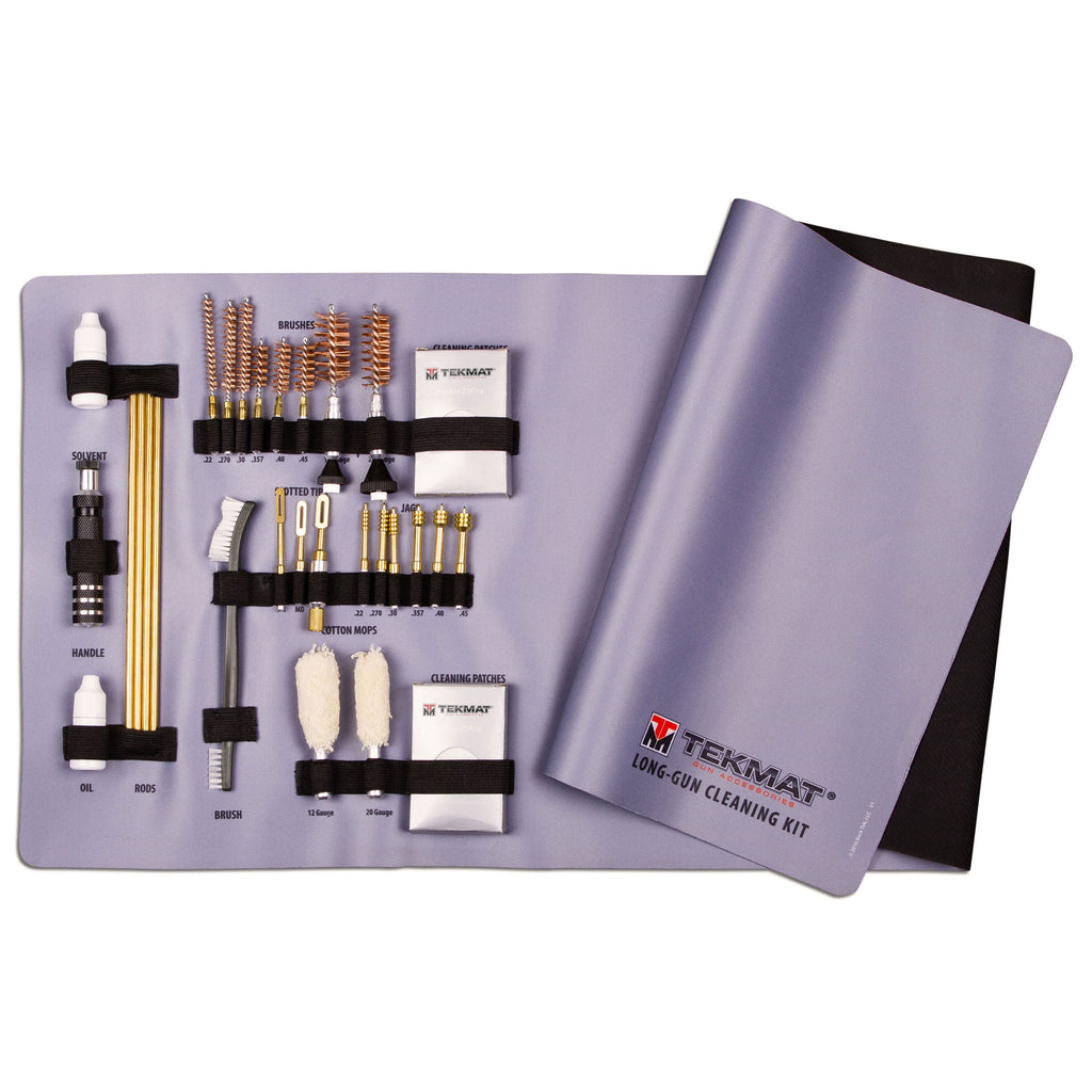 28-Piece Universal Rifle and Shotgun Cleaning Kit with Integrated TekMat Cleaning Mat