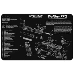 "Walther® PPQ Gun Cleaning Mat - 11"" x 17"" Oversized Workarea"