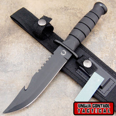 "Best Bowie ""Rambo"" Hunting Knife - Special Military / Navy Seal Edition - Under Control Tactical - 1"