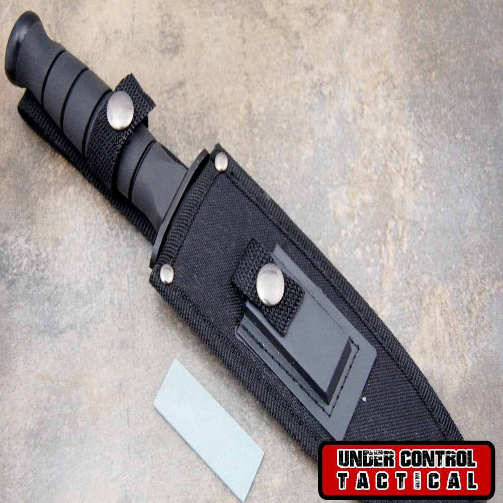 "Best Bowie ""Rambo"" Hunting Knife - Special Military / Navy Seal Edition - Under Control Tactical - 3"