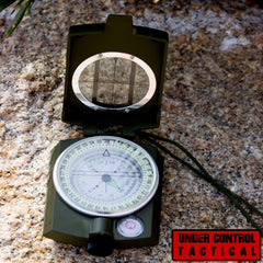 Best Sighting Compass For Camping - Military Grade Survival & Mapping Gear - Under Control Tactical - 1