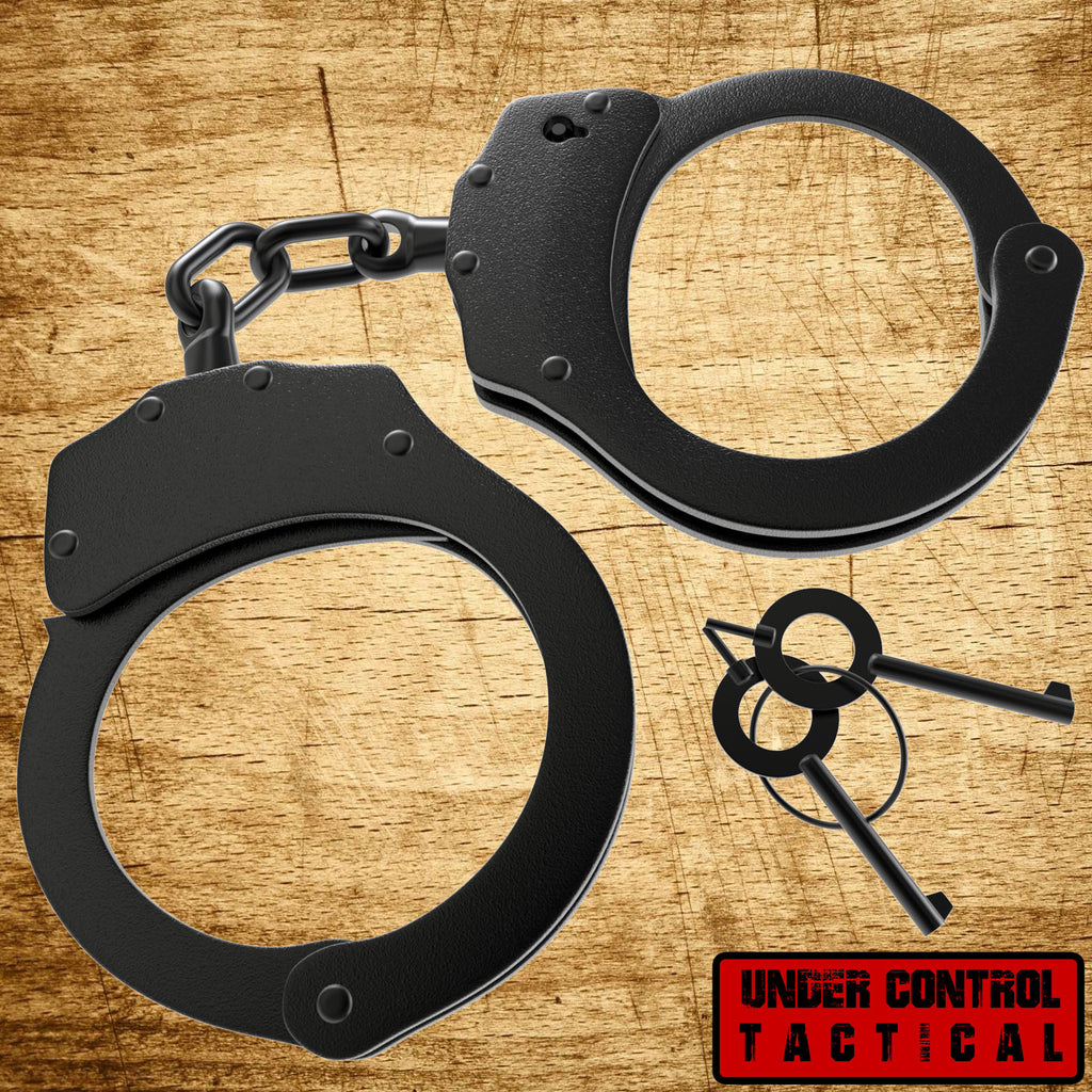 "Real ""Double-Locking"" Police Handcuffs - Military Edition - Under Control Tactical - 1"