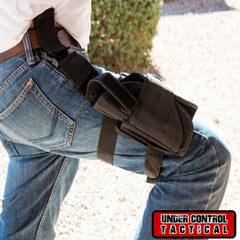 Black Tactical Leg Holster for Gun - Universal Fit For Glock, Smith & Wesson, Ruger, & More! - Under Control Tactical - 1