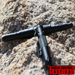 Best Tactical Pen for Self Defense Includes Bright LED Flashlight, Glass Breaker, & DNA Catcher - Under Control Tactical - 1