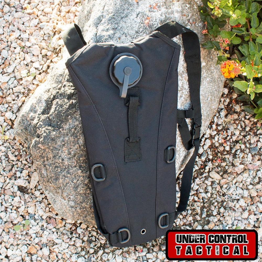 Black Everyday Carry Tactical Hydration Bag - Holds 3 Liters - Under Control Tactical - 1