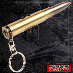 Bullet Keychain with Writing Pen, Laser, and LED Light - Under Control Tactical - 1