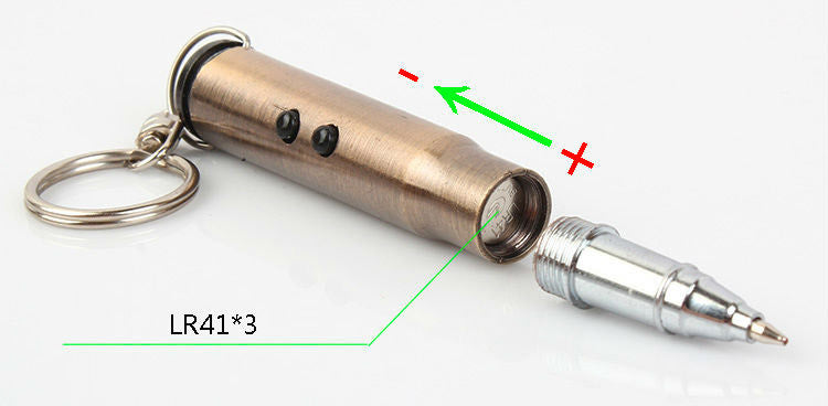 Bullet Keychain with Writing Pen, Laser, and LED Light - Under Control Tactical - 4
