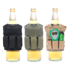 Military Mini Miniature Molle Vest Tactical Beer Bottle Cover