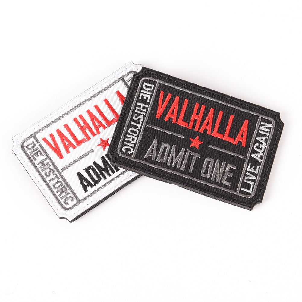 Army Tactical Ticket to Valhalla Morale Badge Fabric Embroidered Patch