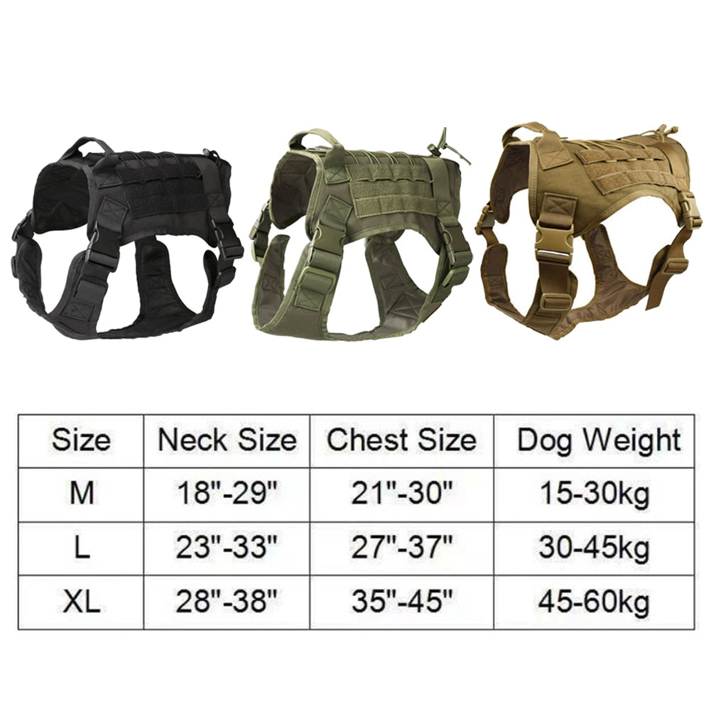 Military Tactical Dog Harness k9 Vest Molle Dog Vest