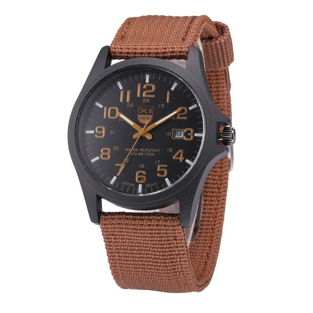Tactical Watch with Canvas Band