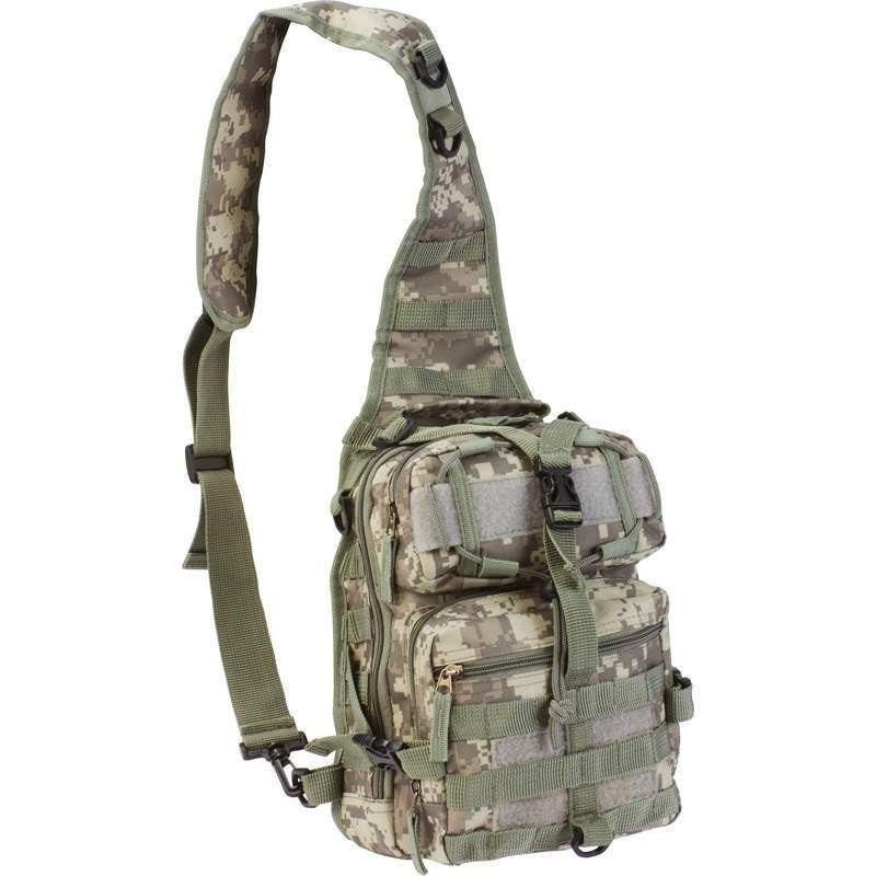 Tactical Military Sling Backpack in Digital Camo - Under Control Tactical - 4