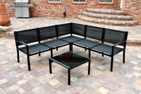 Maybranch Modular Outdoor Black Patio Furniture