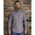 Men's Western Stripe Long Sleeve Shirt - I30D01-89