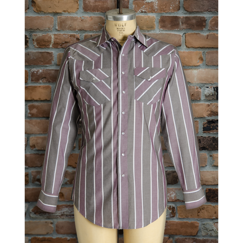 I30D01-89 • Men's Long Sleeve Stripe Shirt