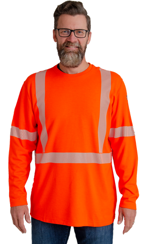 61T20 Transmission Knit FR Hi-Vis Long Sleeve T-Shirt