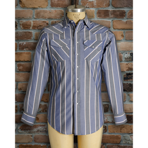 I30D01-104 • Men's Long Sleeve Stripe Shirt