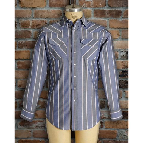 Men's Western Stripe Long Sleeve Shirt - I30D01-104