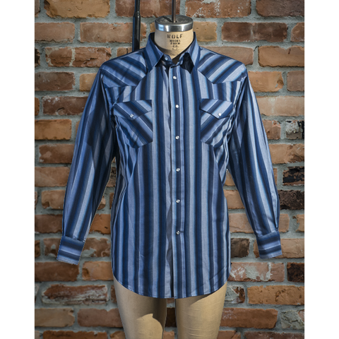 Men's Western Stripe Long Sleeve Shirt - I30D01-42