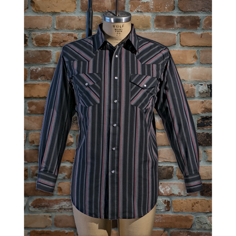 Men's Long Sleeve Poly Cotton Stripe • I30D01R-76